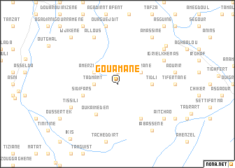 map of Gouamane