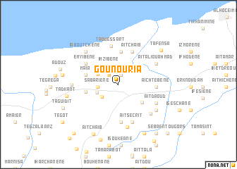map of Gounoûria