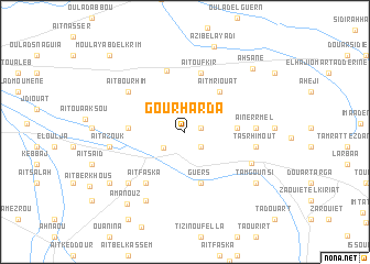 map of Gourharda