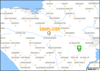 map of Gourlizon