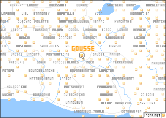 map of Gousse