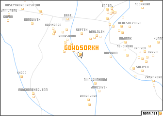 map of Gowd Sorkh