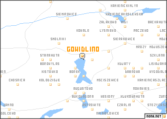 map of Gowidlino