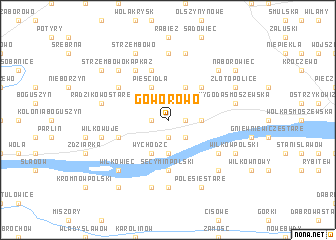 map of Goworowo