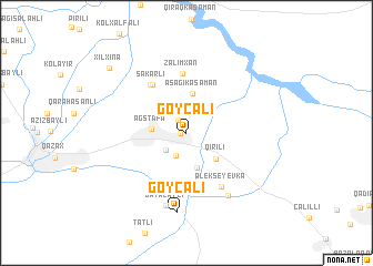 map of Göycǝli