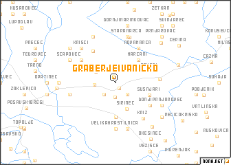 map of Graberje Ivanićko