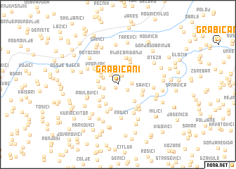 map of Grabičani