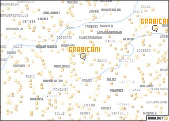 map of Grabičani