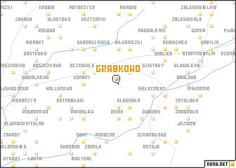 map of Grąbkowo