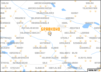 map of Grabkowo