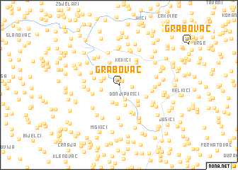 map of Grabovac