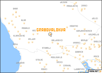 map of Grabova Lokva