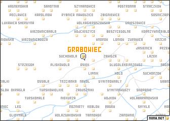 map of Grabowiec