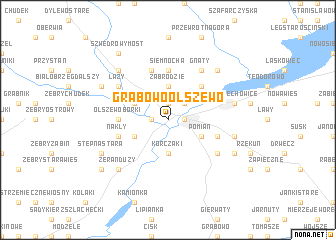 map of Grabowo-Olszewo