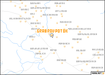 map of Grabrov Potok