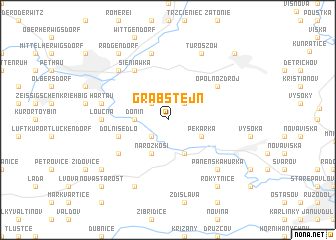 map of Grabštejn