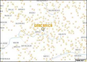 map of Gračanica