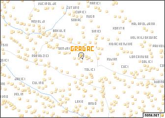 map of Gradac