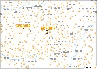 map of Gradina