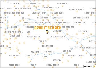 map of Graditschach