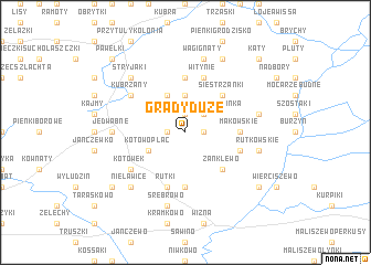 map of Grądy Duże