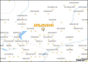 map of Grajauskai