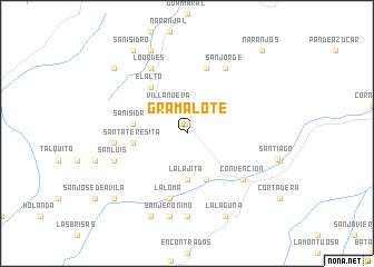 map of Gramalote