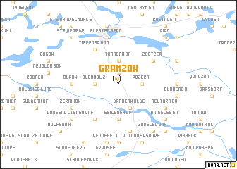map of Gramzow