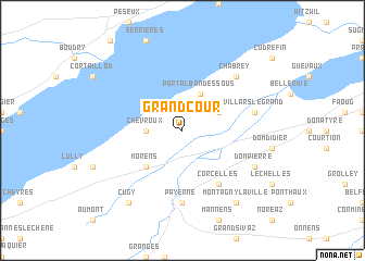 map of Grandcour