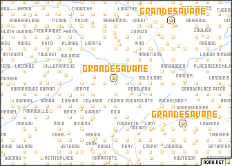 map of Grande Savane