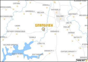 map of Grandview
