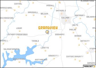 map of Grandview