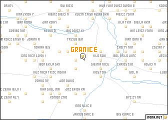 map of Granice