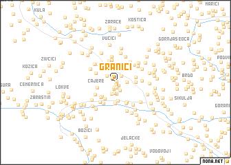 map of Granići