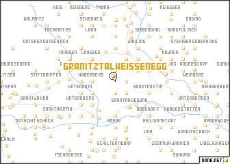 map of Granitztal Weißenegg