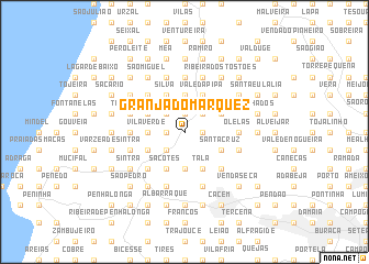 map of Granja do Marquez