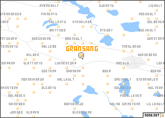 map of Gransäng
