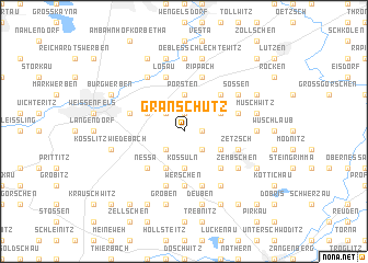 map of Granschütz