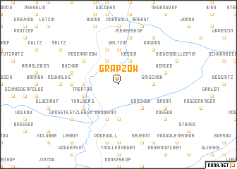 map of Grapzow