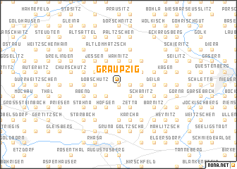 map of Graupzig