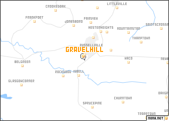 map of Gravel Hill