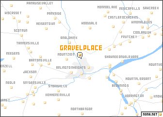 map of Gravel Place