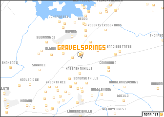 map of Gravel Springs