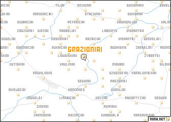 map of Gražioniai