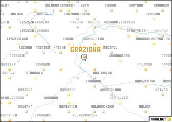 map of Grąziowa