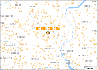 map of Grbavci Donji