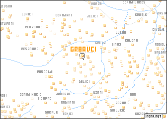 map of Grbavci