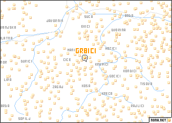 map of Grbići