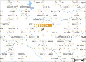 map of Gręboszów