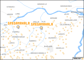 map of Greda Mahala